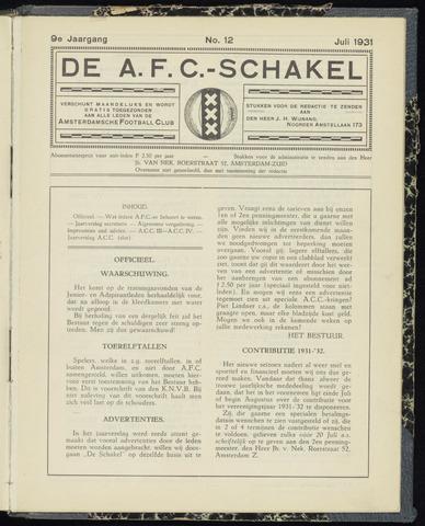 Schakels (clubbladen) 1931-07-01
