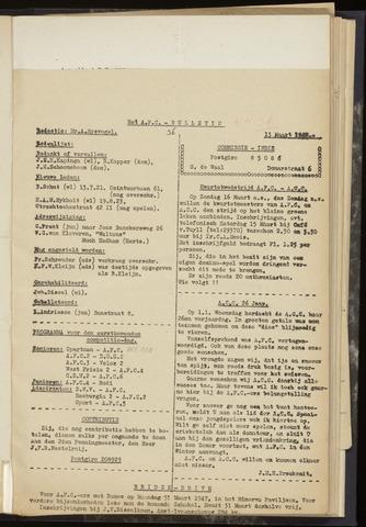 Bulletins (vnl. opstellingen) 1947-03-13