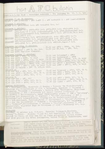 Bulletins (vnl. opstellingen) 1964-10-07