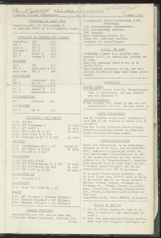 Bulletins (vnl. opstellingen) 1953-03-03