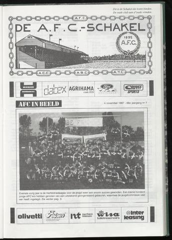 Schakels (clubbladen) 1987-11-04