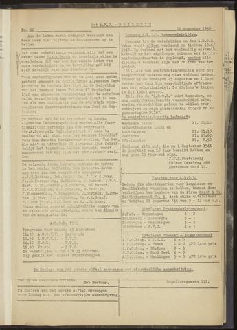 Bulletins (vnl. opstellingen) 1946-08-21