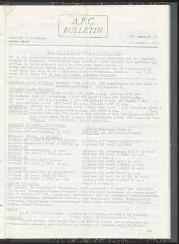 Bulletins (vnl. opstellingen) 1972-11-15