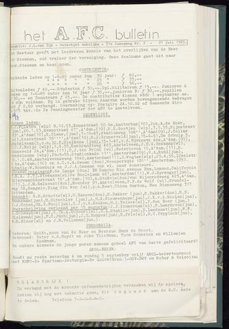 Bulletins (vnl. opstellingen) 1965-07-21