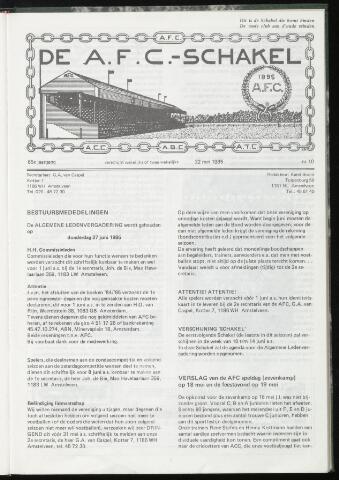 Schakels (clubbladen) 1985-05-22