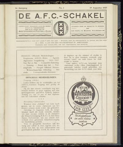 Schakels (clubbladen) 1927-08-19