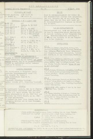 Bulletins (vnl. opstellingen) 1958-03-05