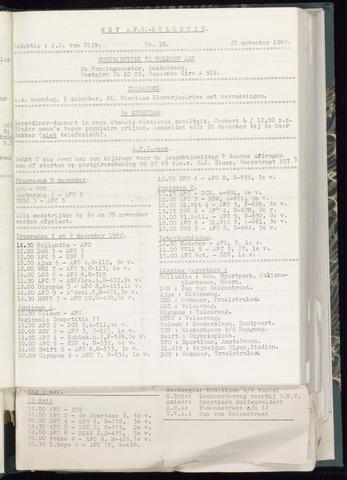 Bulletins (vnl. opstellingen) 1962-11-21