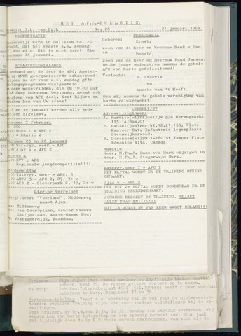Bulletins (vnl. opstellingen) 1964-01-15