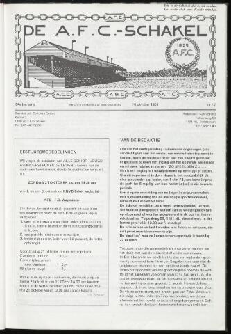 Schakels (clubbladen) 1984-10-10
