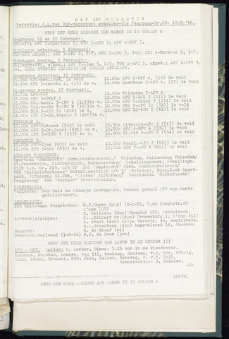 Bulletins (vnl. opstellingen) 1966-02-10