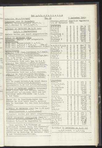 Bulletins (vnl. opstellingen) 1949-12-07