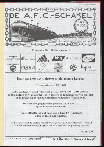 Schakels (clubbladen) 2001-08-15