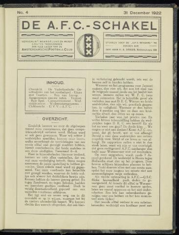 Schakels (clubbladen) 1922-12-31