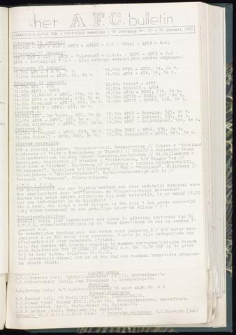 Bulletins (vnl. opstellingen) 1965-01-20