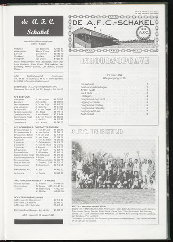 Schakels (clubbladen) 1986-05-21