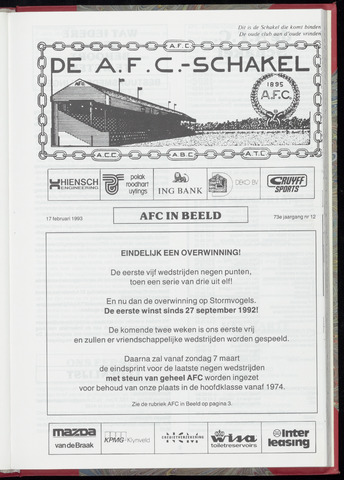Schakels (clubbladen) 1993-02-17