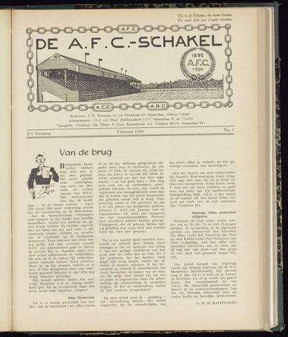 Schakels (clubbladen) 1959-02-01