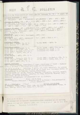 Bulletins (vnl. opstellingen) 1965-03-31