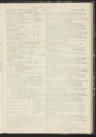 Bulletins (vnl. opstellingen) 1950-11-06