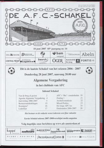 Schakels (clubbladen) 2007-06-18