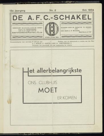 Schakels (clubbladen) 1934-10-01