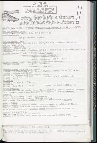 Bulletins (vnl. opstellingen) 1967-05-10