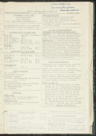 Bulletins (vnl. opstellingen) 1955-03-22