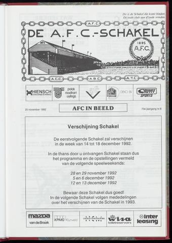 Schakels (clubbladen) 1992-11-25