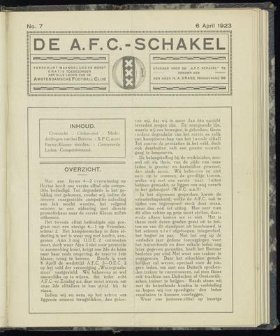 Schakels (clubbladen) 1923-04-06