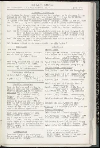 Bulletins (vnl. opstellingen) 1960-06-14