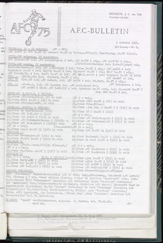 Bulletins (vnl. opstellingen) 1968-10-02