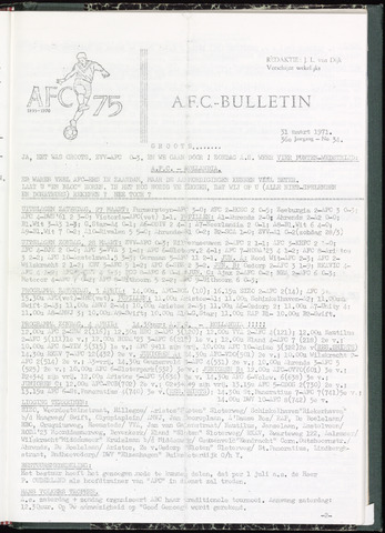 Bulletins (vnl. opstellingen) 1971-03-31