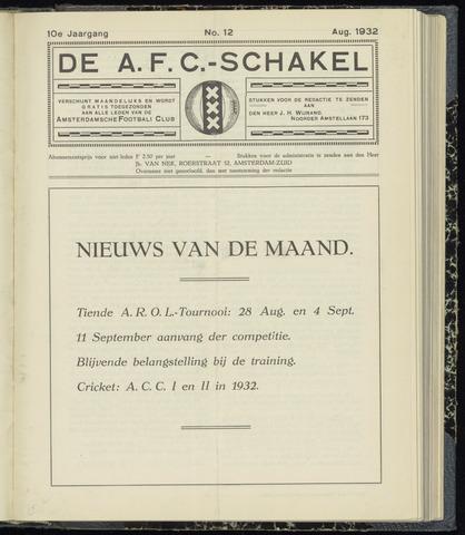 Schakels (clubbladen) 1932-08-01