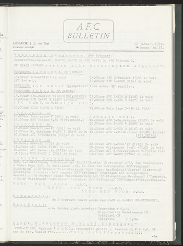 Bulletins (vnl. opstellingen) 1972-01-26
