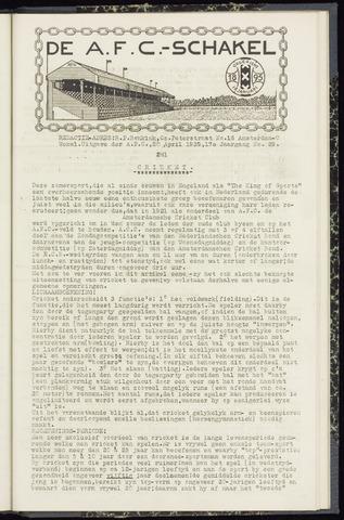 Schakels (clubbladen) 1939-04-20