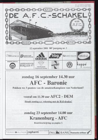 Schakels (clubbladen) 2001-09-12