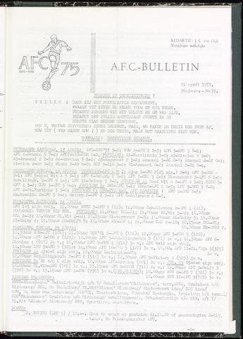 Bulletins (vnl. opstellingen) 1971-04-21