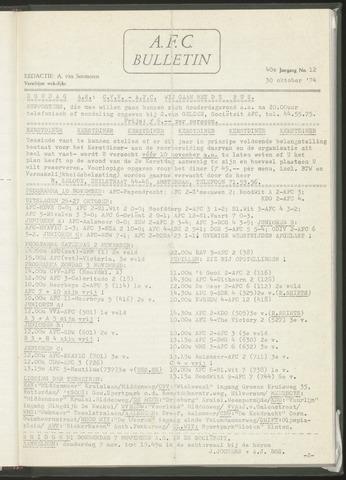 Bulletins (vnl. opstellingen) 1974-10-30