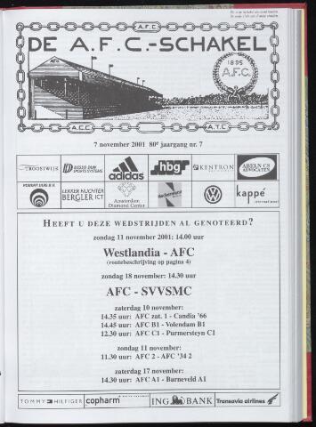 Schakels (clubbladen) 2001-11-07