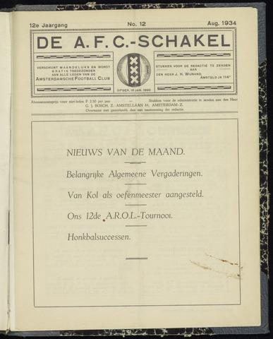Schakels (clubbladen) 1934-08-01