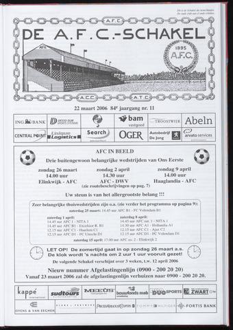 Schakels (clubbladen) 2006-03-22