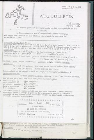 Bulletins (vnl. opstellingen) 1968-05-29