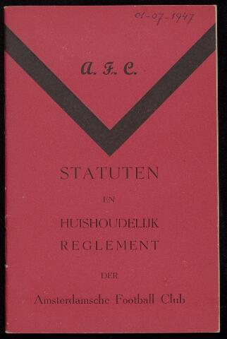 Statuten en reglementen 1947-07-01