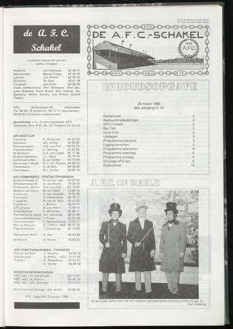 Schakels (clubbladen) 1986-03-26