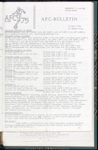 Bulletins (vnl. opstellingen) 1969-03-26