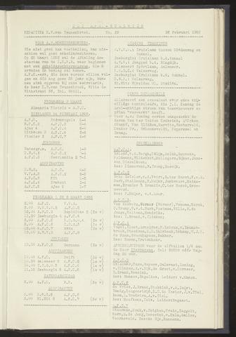 Bulletins (vnl. opstellingen) 1952-02-26