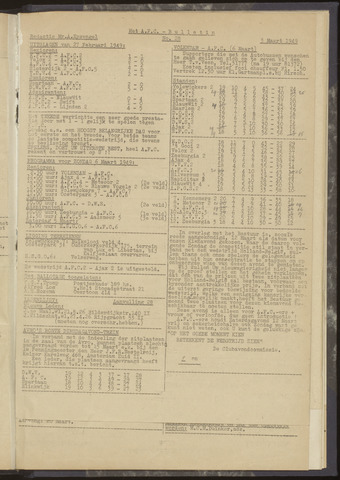 Bulletins (vnl. opstellingen) 1949-02-24