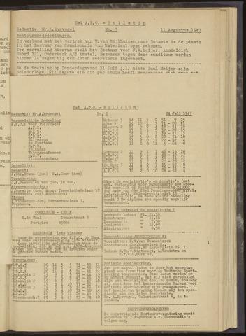 Bulletins (vnl. opstellingen) 1947-07-24