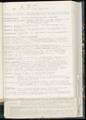 Bulletins (vnl. opstellingen) 1964-03-25